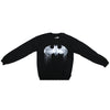 Mens Black Batman Faded Paint Drip Logo Sweater