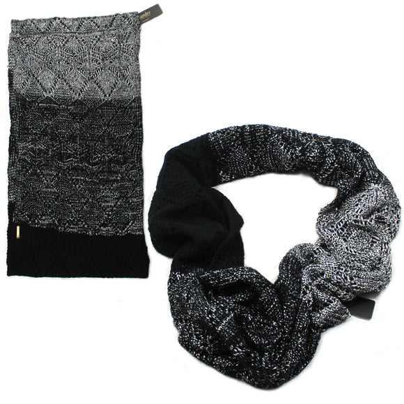 Women Laundry by Shelli Segal black Silver Infinity Scarf Scarves
