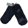 Laundry By Shelli Segal Blue Faux Fur Gloves