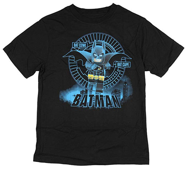Boys Lego Batman Bat Cape Bat Cowl T-Shirt Tee