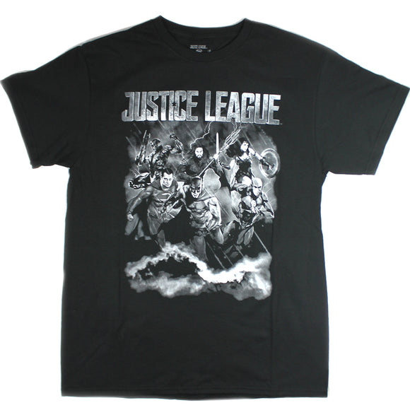 Mens DC Comics Justice League Black Tee T Shirt