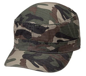 Military Camo Cadet Hat Cap