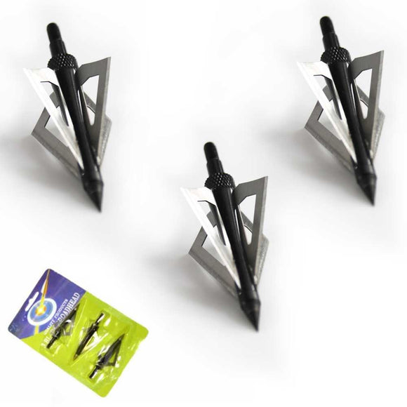 MK 150-E4 THREE 4-BLADED BROAD HEAD ARROW TIPS