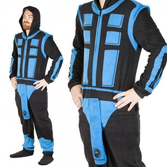 Mortal Kombat Sub-Zero Full Body Union Suit Costume Pajamas