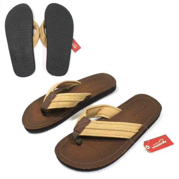 MS521GEN Arizona Jeans Twill Brown Tan Sandals Slippers Mens