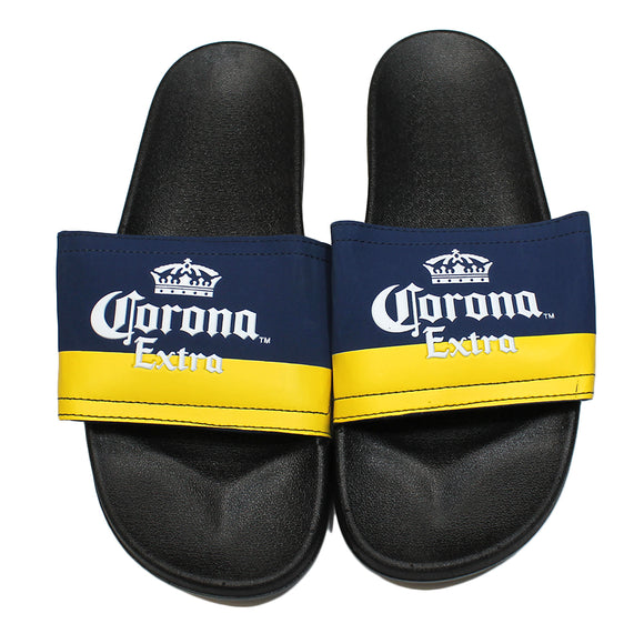 Adult Black & Blue Corona Extra Slides Sandal