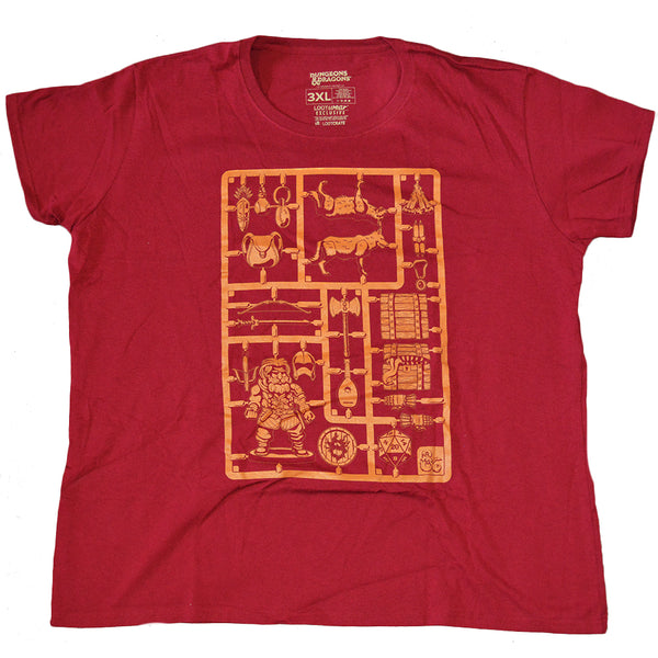 Womens Red Loot Crate Exclusive Dungeons & Dragons Sprue Tee T-Shirt
