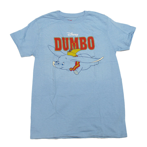 Mens Blue Heather Dumbo Disney Movie Graphic Tee T-Shirt