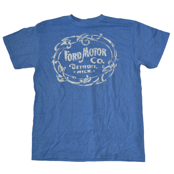 Mens Blue Ford Motor Co Graphic Tee T-Shirt