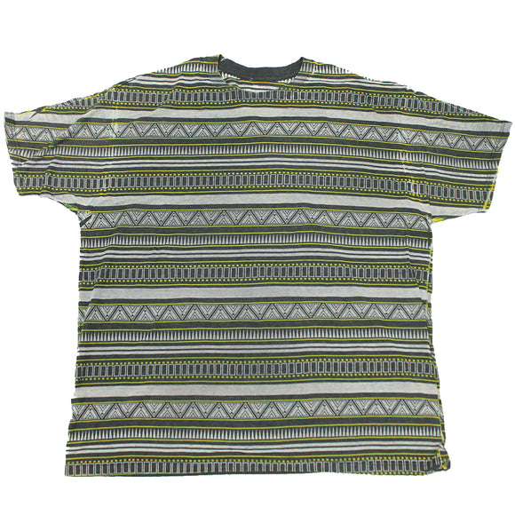 Men's Green Geometric Design tee T-Shirt