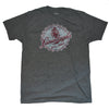 Men's Gray Heather Leinenkugel's Beer Bottle Cap Graphic Tee T-Shirt