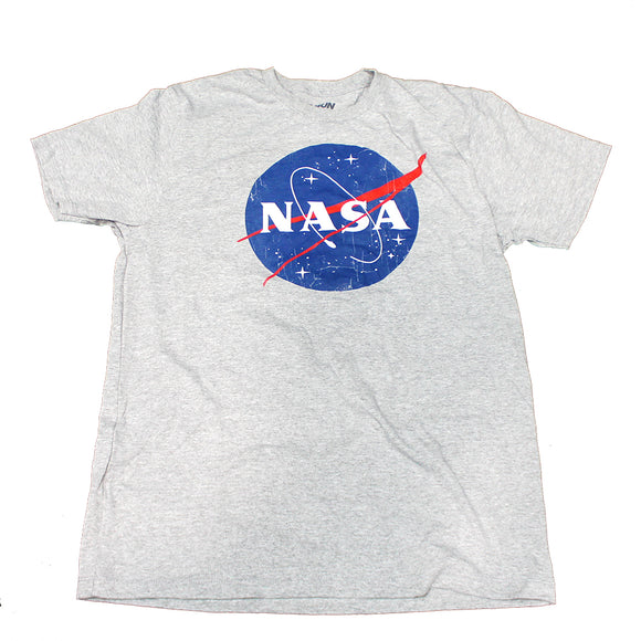 Men's Gray Heather NASA Logo Graphic Tee T-Shirt
