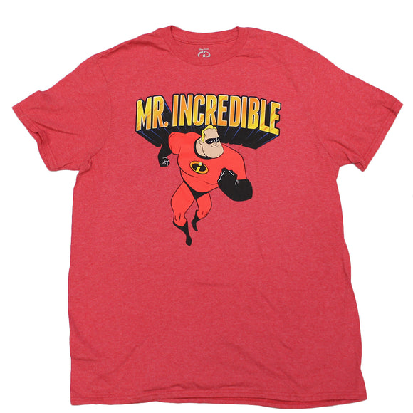 Mens Red Heart Disney The Incredibles Mr. Incredible Tee T-Shirt