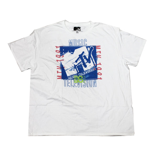 Mens White MTV 1981 Graphic Tee T-Shirt