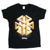 Mens Black Geometric Design AWS rePlay  Graphic Tee Tshirt