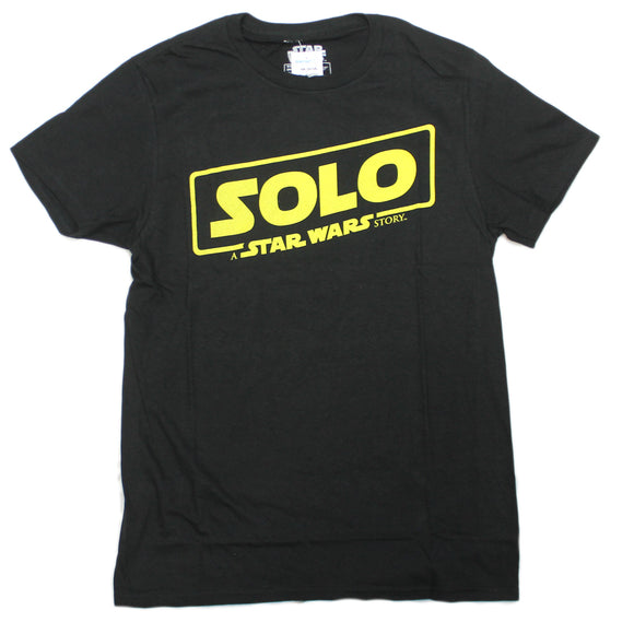 Mens Black Solo A Star Wars Story Movie Tee T Shirt