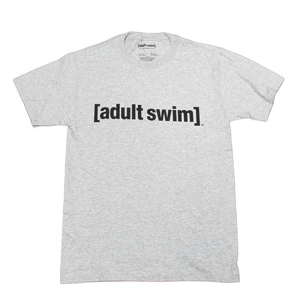 Mens Grey Heather Adult Swim Logo Tee T Shirt