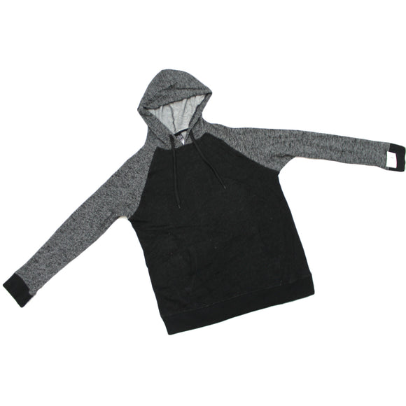 Mens Black & Grey Two Tone Heather Hoodie