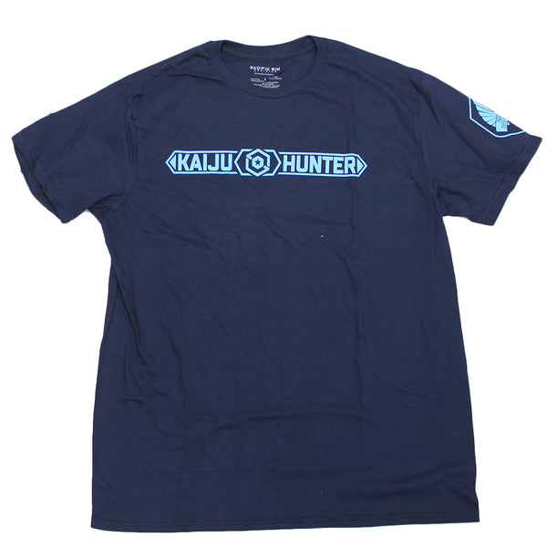 Men's Navy Kaiju Hunters Pacific Rim Movie Graphic Tee T Shirt