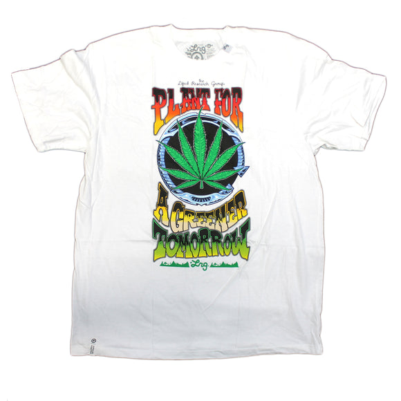 Mens LRG Lifted Research Group Plant for a Greener Tomorrow White Tee T Shirt