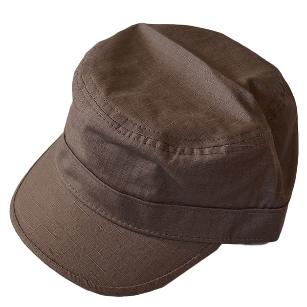 Adults Brown Cadet Military Hat Cap