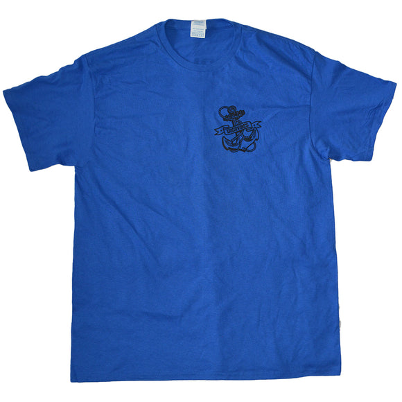 Mens Blue Goodvibes Anchor Graphic Tee T-Shirt