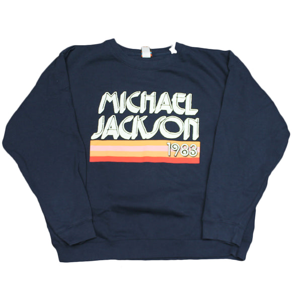 Blue Junk Food Michael Jackson 1983 Blue Graphic Sweater