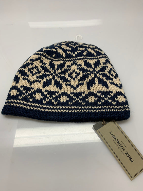 Free Authority Blue Woven Beanie Winter Cap