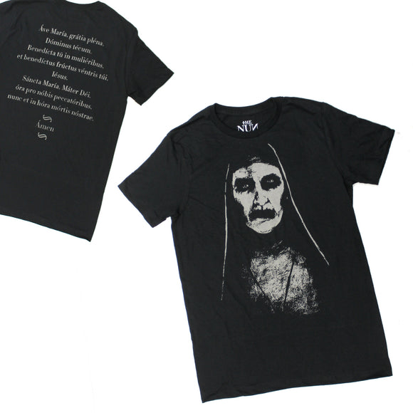 Mens The Nun Movie Lady Face Conjuring Exorcist Black Tee T Shirt