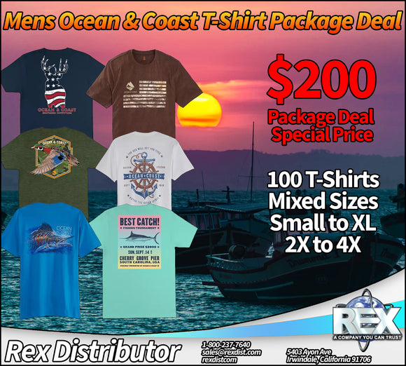 Package Deal #116-  Mens Ocean & Coast T-Shirt Package Deal