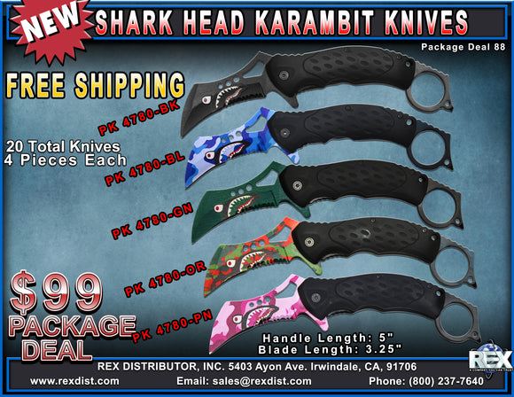 Package Deal #88 Shark Head Karambit Package Deal | FREE SHIPPING