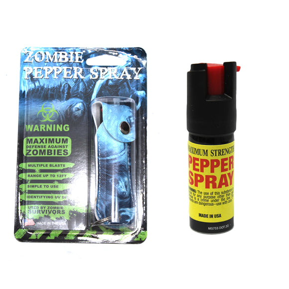 PSCH31-ZMB 0.5 Pepper Spray with Zombie Case