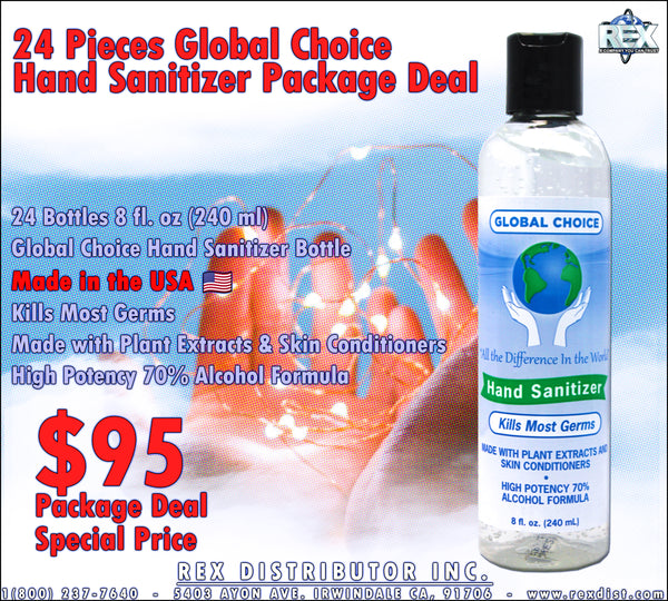 Package Deal #100 - 24 Bottles Global Choice Hand Sanitizer Package Deal