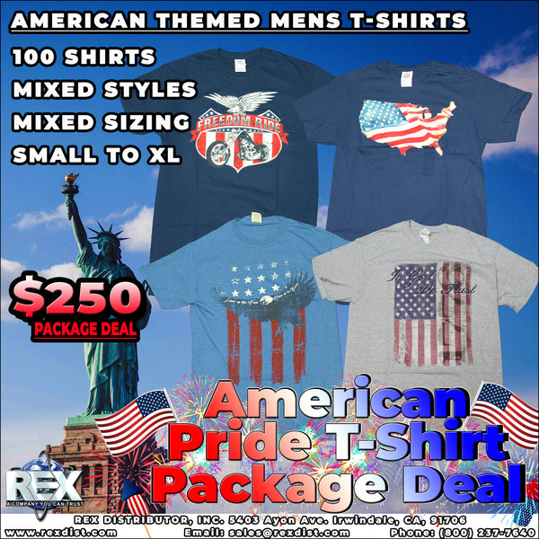 Package Deal #105- American Pride Mens T-Shirts Package Deal
