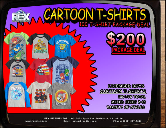 Package Deal #96 - Boys Cartoon Graphic T-Shirts Package Deal