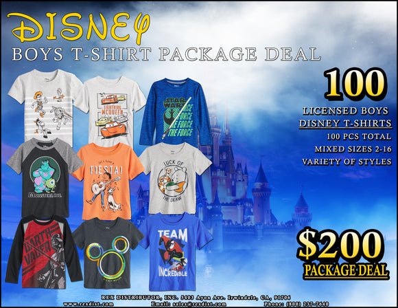 Package Deal #97 - Boys Disney Graphic T-Shirts Package Deal