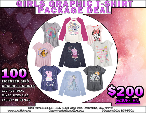 Package Deal #98 - Girls Licensed Graphic T-Shirts Package Deal