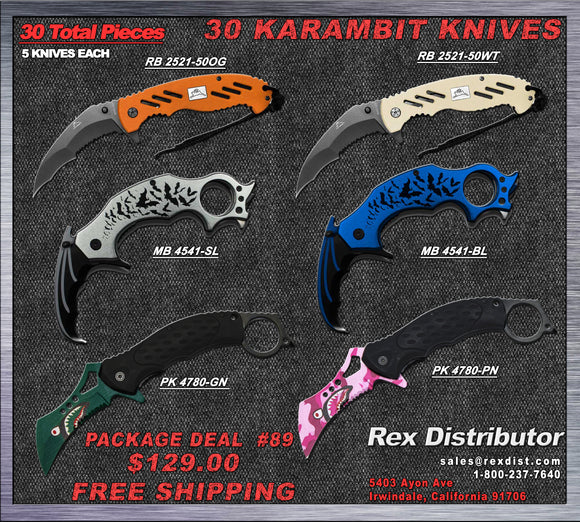 Package Deal #89 30 Mixed Karambit Package Deal | FREE SHIPPING