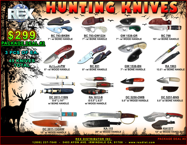 PACKAGE DEAL #03 - Hunting Knives - Free Shipping
