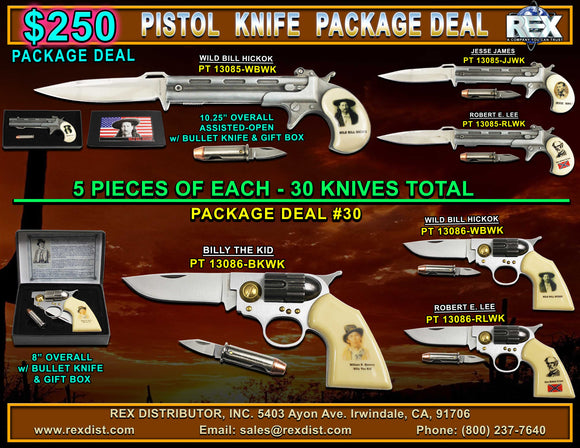 Package Deal #30 - Pistol Knives Package Deal - Free Shipping