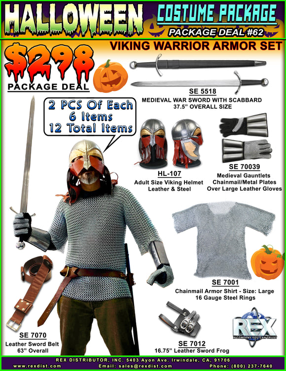 Package Deal #62 - Halloween Special: Viking Warrior Armor Set