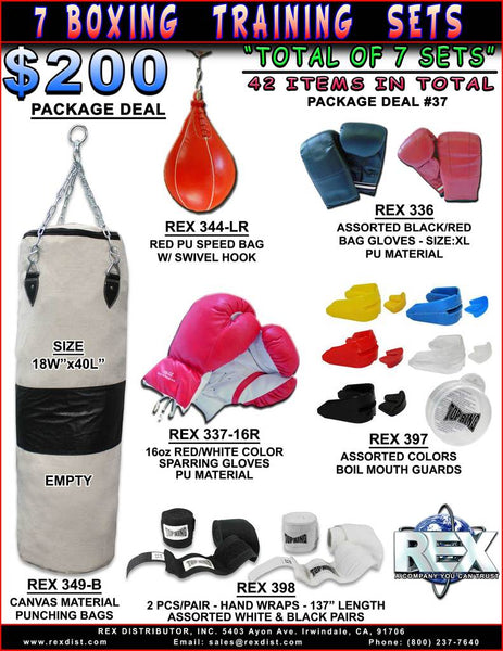 PACKAGE DEAL #37 - 7 Boxing Boxer Training Sets