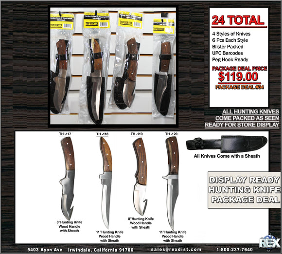 Package Deal #84 Display Ready Hunting Knife Package Deal