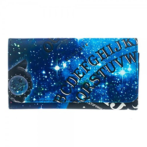 Ouija Womens Girls Flat Blue Fold Wallet Purse Pouch