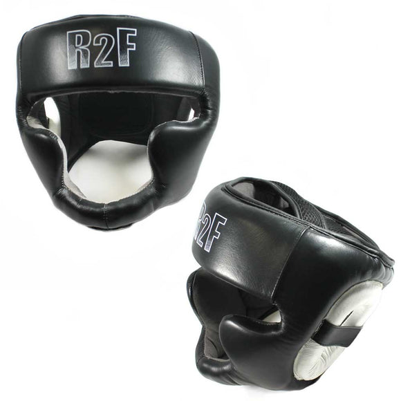 R2F 335-LBK Boxing & MMA Sparring Protective Headgear