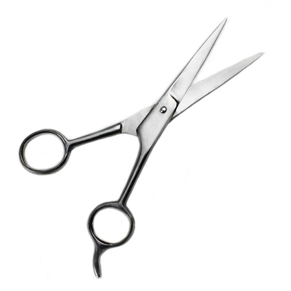 "RI 532-C 6.5"" Ice Tempered Silver Barber Scissors"
