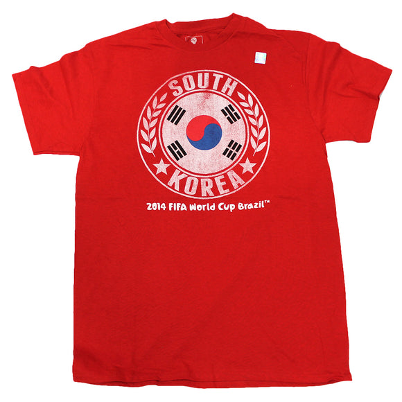 Men's Red South Korea 2014 World Cup Graphic Tee T-Shirt