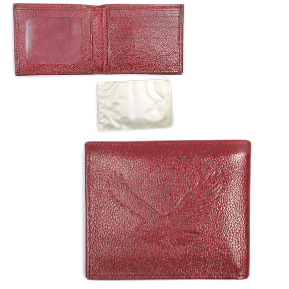 Red Leather Eagle Wallet with Removable Picture Holder