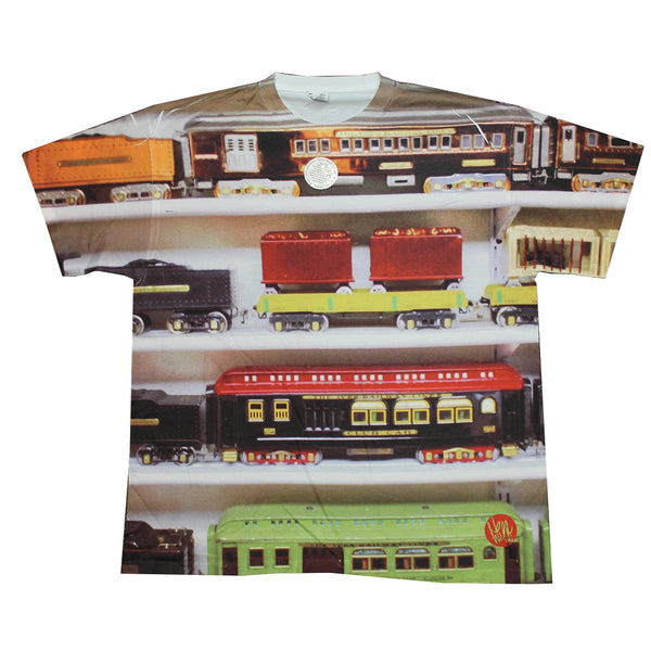 Mens Sublimated Train Graphic Tee T-Shirt