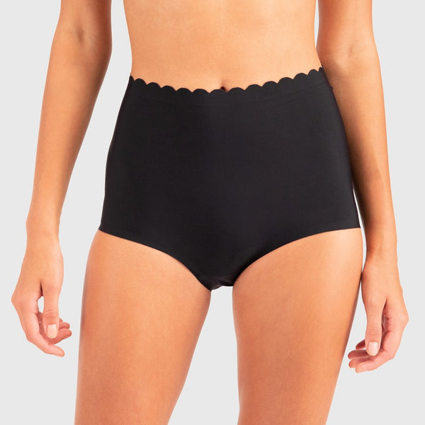 Wander by Hottotties Women's Scallop Nova Hi Waist Panties